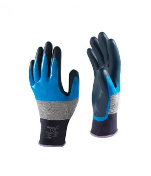 Showa 376R 3/4Nitril blauw/zwart, 9-XL
